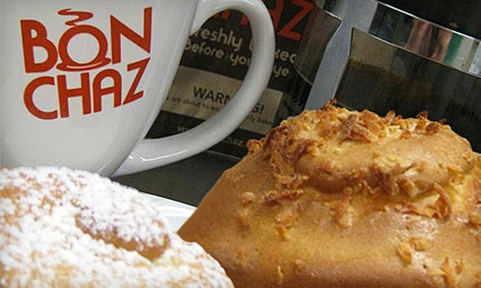 Bonchaz - Downtown Vancouver: $5 for $12 Worth of Global Baked Goods, Sandwiches, Soups, and Drinks at Bonchaz