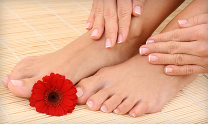Butterfly Effect Day Spa - Sierra Madre: $99 for a Mani-Pedi with Paraffin Treatment Package for Two Plus Two Glasses of Champagne ($210 Value)
