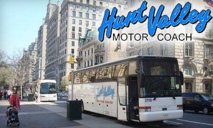 Hunt Valley Motor Coach - Baltimore: $25 Round-Trip Bus Ride to New York City from Hunt Valley Motor Coach