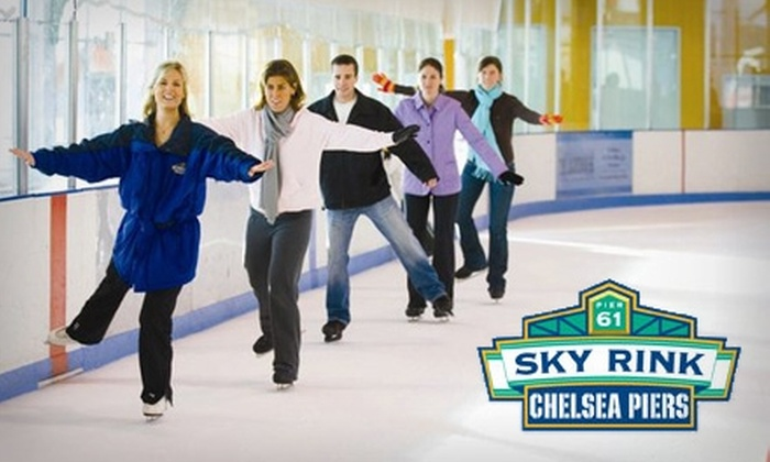 Sky Rink At Chelsea Piers - Chelsea: $10 for Ice-Skating Admission Plus Skate Rental at Sky Rink at Chelsea Piers ($20.50 Value)