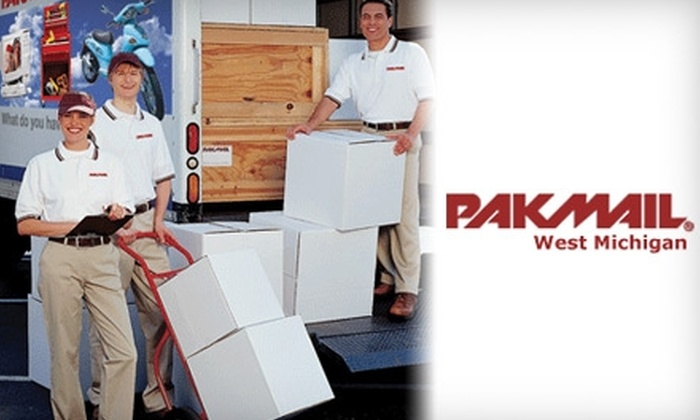 PakMail - Multiple Locations: $15 for $30 of Shipping, Packaging, and Office Services at Pak Mail