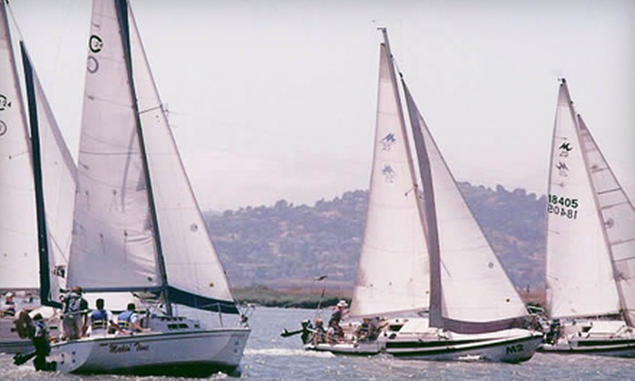 Spinnaker Sailing - San Mateo: Basic Keelboat Sailing Lesson for One or Two People from Spinnaker Sailing in Redwood City (Up to 58% Off)