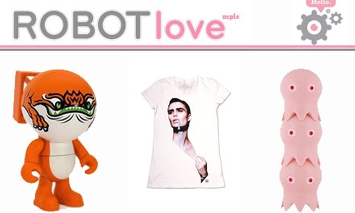 Robot Love  - Minneapolis / St Paul: $10 for $20 Worth of Innovative Clothes, Toys, Stationery, and Gifts at Robot Love