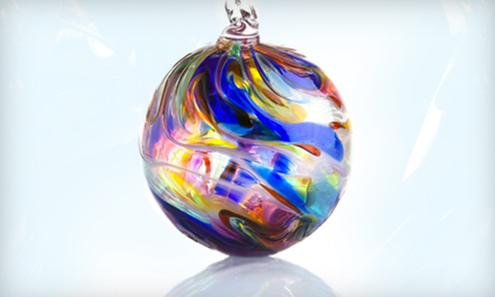 Studio West - Downtown: $12 for a Hand-Blown Glass Ornament at Studio West ($25 Value)