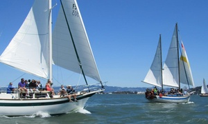 The San Francisco Sailing Company: $30 for a Golden Gate Bridge Champagne Cruise from The San Francisco Sailing Company ($60 Value)