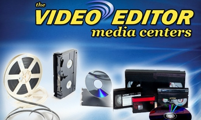The Video Editor - Charleston: $20 for Two Videotapes Transferred to Two DVDs from The Video Editor ($40 Value)