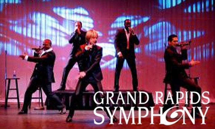 "Grand Rapids Symphony - Grand Rapids: $18 for One VIP Ticket to Grand Rapids Symphony's ""Rockapella Goes Retro: '60s/'70s Hits"" Concert (Up to $66 Value). Three Dates Available."