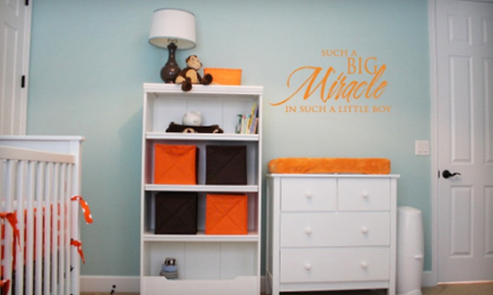 Lacy Bella Designs: $10 for $25 Worth of Removable Vinyl Wall Decals from Lacy Bella Designs