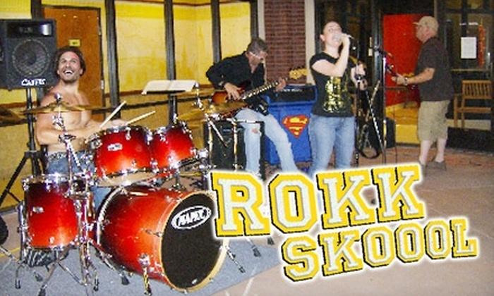 Rokk Skoool - Mesa: $25 for Two Beginner's Classes at Rokk Skoool in Gilbert. Choose from Electric/Acoustic Guitar 101, Bass Guitar 101, Drumset 101, or Vocals.