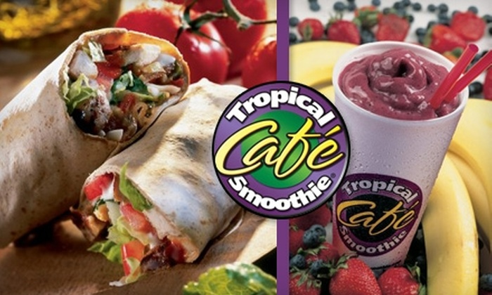 Tropical Smoothie Café Dayton - Multiple Locations: $5 for $10 Worth of Smoothies, Sandwiches, and More at Tropical Smoothie Café