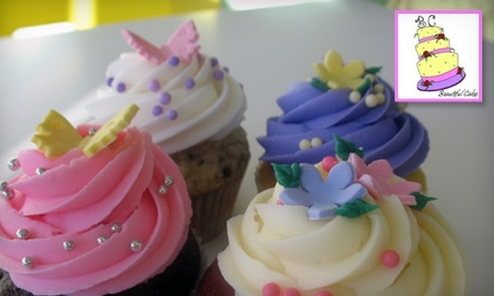 Beautiful Cakes - Jefferson Park: $12 for a Dozen Gourmet Cupcakes at Beautiful Cakes ($24 Value)