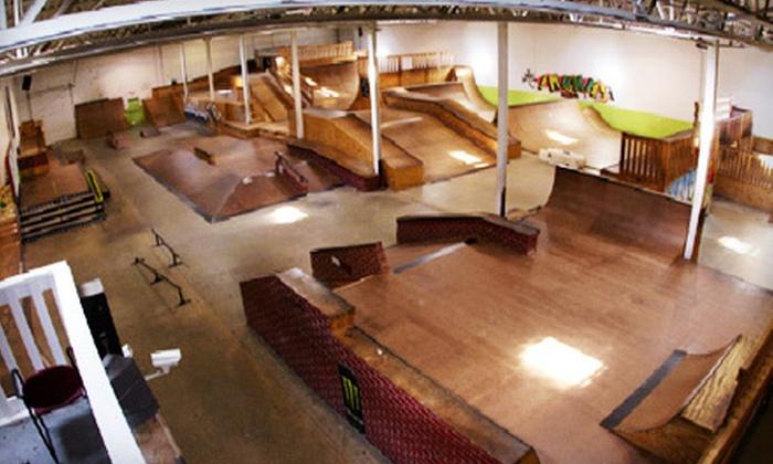 Landslide Skate Park - Clinton Township: 5 or 10 Two-Hour or All-Day Skate-Park Sessions at Landslide Skate Park in Clinton Township (Up to 56% Off)