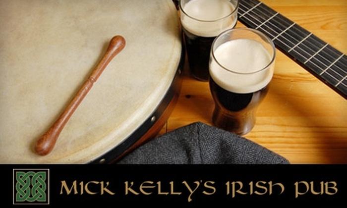 Mick Kelly's Irish Pub - Burien: $10 for $25 Worth of Authentic Irish Fare at Mick Kelly's Irish Pub in Burien