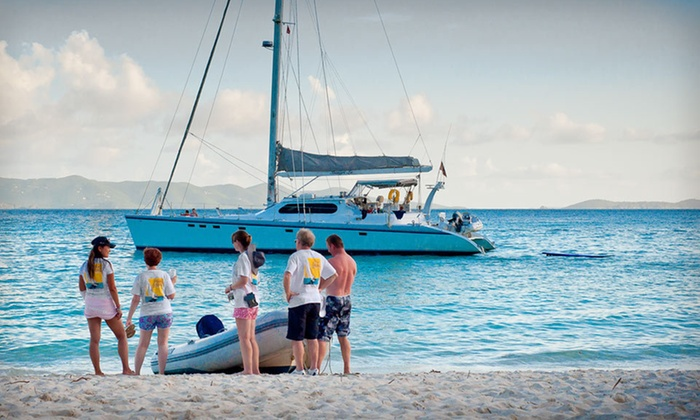 Caribbean Luxury Catamaran Cruise - British Virgin Islands: Three- or Six-Night Catamaran Cruise with Breakfast and Lunch and Non-Premium Alcoholic Beverages from Drake Academy