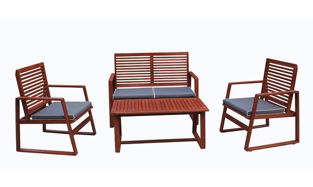 Outdoor furniture set groupon goods for Outdoor furniture groupon