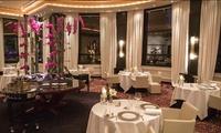 """Déjeuner """"Plaisir"""" avec entrée, poisson, viande et dessert pour 2 convives à 98 € au restaurant étoilé La Rotonde"""
