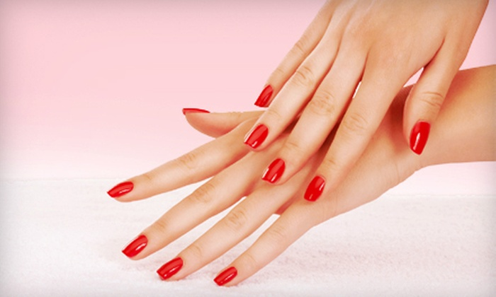 Natural Nails by T - Mapleton - Fall Creek: Regular Mani-Pedi or Shellac Mani-Pedi at Natural Nails by T (Up to 55% Off)