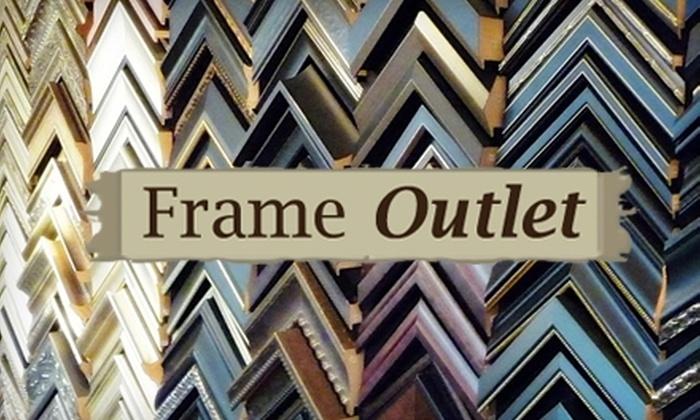 Frame Outlet - Deerfield: $50 for $100 Worth of Custom Framing at Frame Outlet