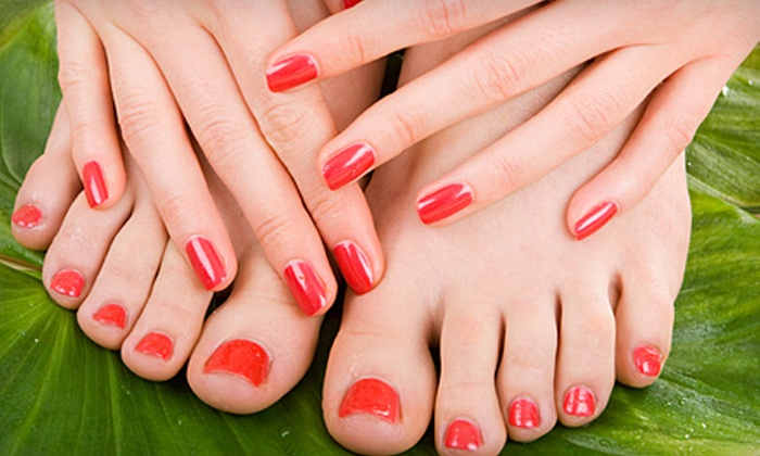 Aleaka's Day Spa  - Spenard: $29 for an Organic Manicure and Pedicure at Aleaka's Day Spa ($60 Value)