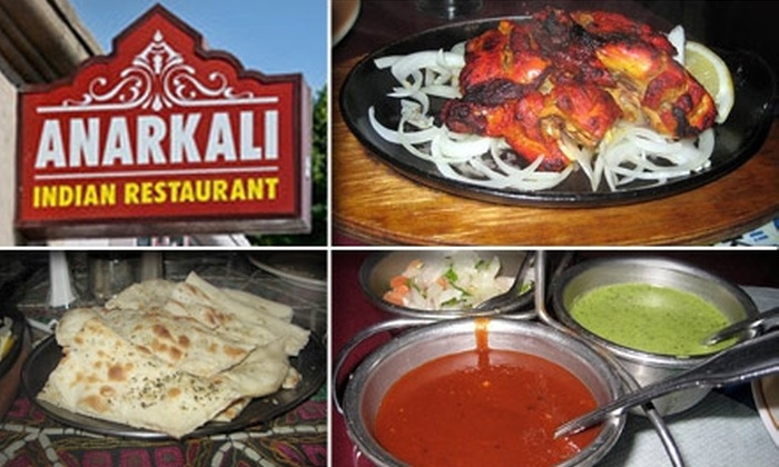 Anarkali Indian Restaurant - Melrose: $18 for $40 Worth of Indian Cuisine at Anarkali