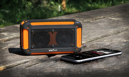 VEHO 360° Vecto Water-Resistant Bluetooth 4.0 Speaker with Mic and Built-in 6,000mAh Power Bank