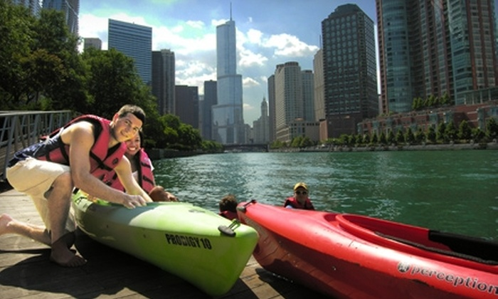 Chicago's Urban Kayaks - River Walk: Historic Chicago Tour or Sunset Paddle for One or Two from Urban Kayaks