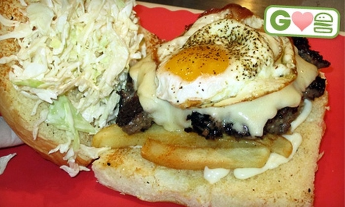 Dog Haus - Mid Central: $6 for Two Burgers at Dog Haus in Pasadena (Up to $16 Value)