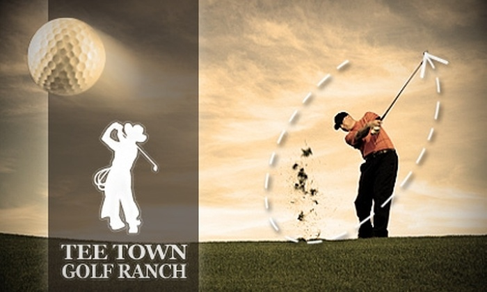 Tee Town Golf Ranch - Broken Arrow: $34 for a One-Month Unlimited Driving-Range Membership at Tee Town Golf Ranch ($79 Value)