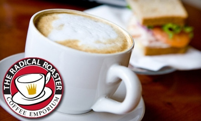 The Radical Roaster - Ludlow: $5 for $10 Worth of Barista Beverages and Café Fare at The Radical Roaster Coffee Emporium