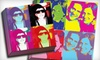 Picture it on Canvas **NAT**: 16-, 20-, or 24-Inch Square Four-Panel Pop-Art Photo Reproduction on Canvas from Picture It On Canvas (Up to 71% Off)