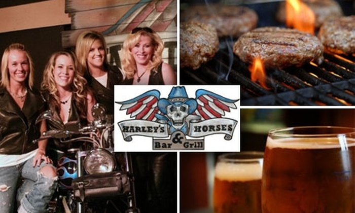 Harleys and Horses Bar & Grill - Winnetonka: $9 for $20 Worth of All-American Fare and Drinks at Harleys and Horses Bar & Grill