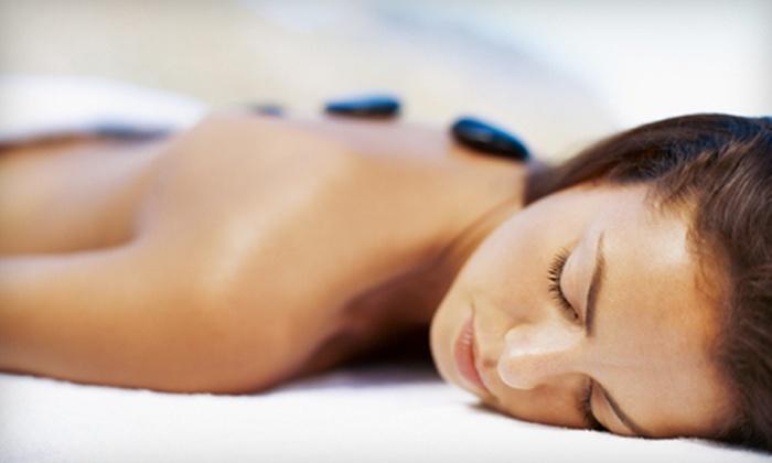 Harrison Salon Spa - Glenora: 90-Minute Individual or Couples Hot-Stone Massage at Harrison Salon Spa (Up to 60% Off)