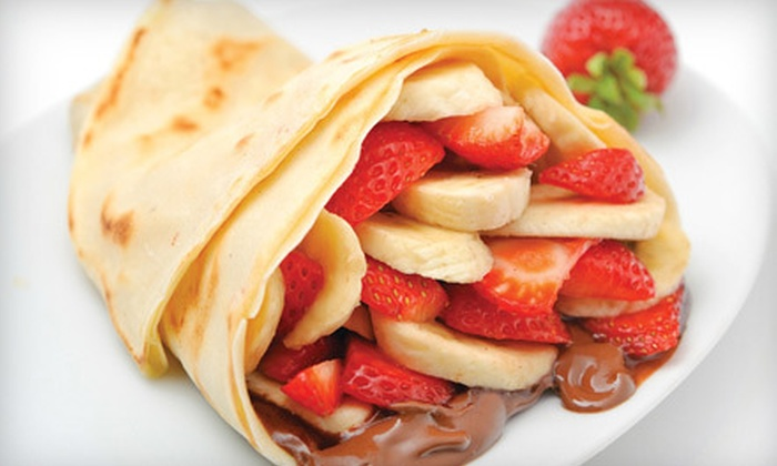 Crepe Delicious - Multiple Locations: Two Crepes at Crepe Delicious (Up to 55% Off). Two Locations Available.