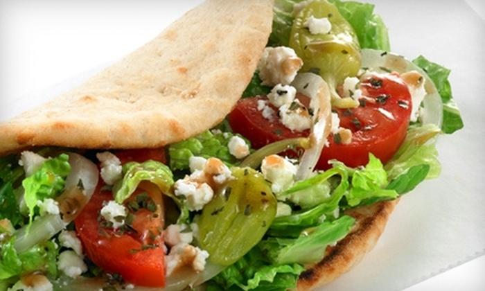 Kronos Gyros & Café - Multiple Locations: $5 for $10 Worth of Mediterranean Fare at Kronos Gyros & Café