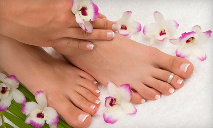 Envy Salon - Round Rock Original Plat: $35 for an Almond Manicure and Pedicure at Envy Salon in Round Rock (Up to $75 Value)