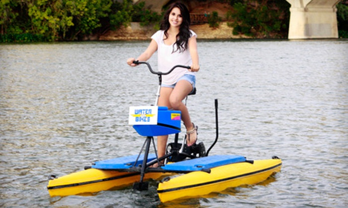 Austin Water Bikes - Bouldin: Water-Bike Rental for One or Two from Austin Water Bikes