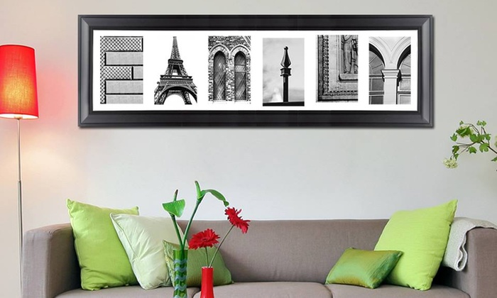 Imagine Letters: Custom Letter-Art Package with Extra Word and Optional Frame from Imagine Letters (Up to 77% Off)