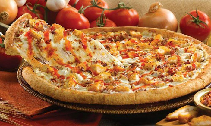 Papa John's - Olympia: Two Large Pizzas with Cinnapie and Soda or Three Large Pizzas from Papa John's (Up to 61% Off)