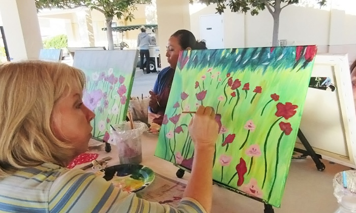 Wine and Palette - CA - Multiple Locations: Three-Hour Painting Class for One at Wine and Palette (Up to Half Off)