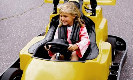 1, 2, 4 ou 10 entrées pour enfants de 1 à 12 ans avec jetons donnant accès au mini karting dès 6€ au parc Les Gouyatsous