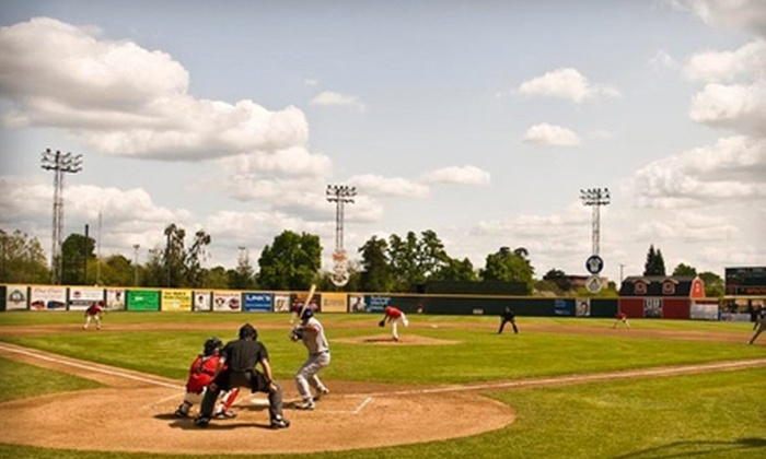 Visalia Rawhide - Visalia: $10 for Two Tickets and Two $5 Food Vouchers to any Saturday Visalia Rawhide Game ($30 Value)