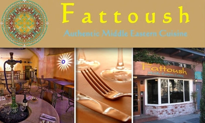 Fattoush - Noe Valley: $20 for $40 Worth of Middle-Eastern Dinner Fare at Fattoush