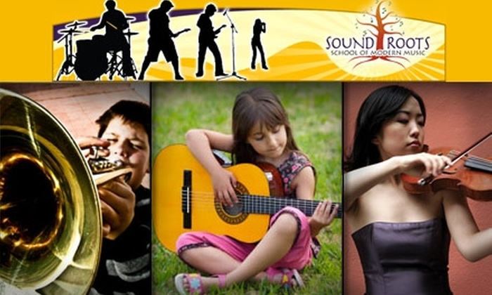 Sound Roots School of Music - Portland: $45 for Four 30-Minute Music Lessons at Sound Roots School of Modern Music ($100 Value)