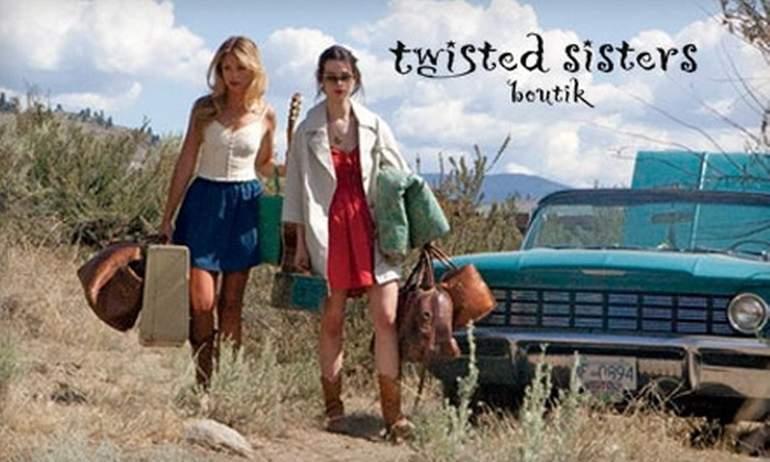 Twisted Sisters Boutik - Downtown: $30 for $60 Worth of Clothing, Footwear and Accessories at Twisted Sisters Boutik