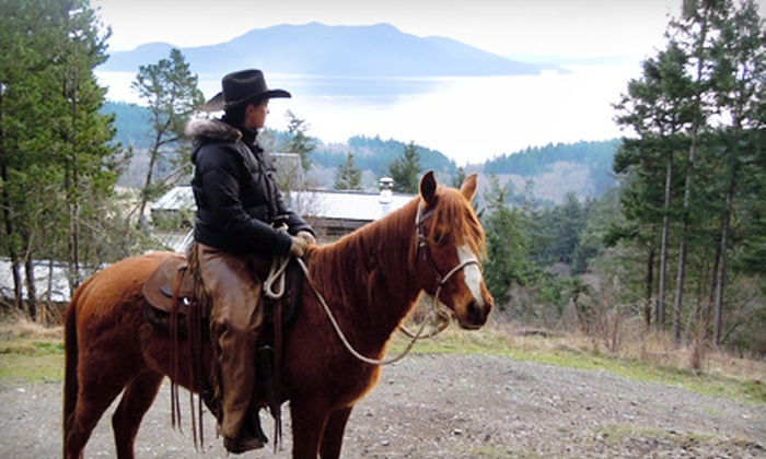 Orcas Island Trail Rides - Olga: 1.5-Hour, 2.5-Hour, or 3.5-Hour Horseback Trail Ride from Orcas Island Trail Rides in Olga (Up to 54% Off)