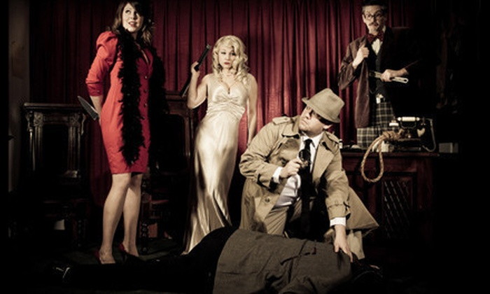 The Murder Mystery Company - Grand Rapids: Dinner Show for One or Two from The Murder Mystery Company at Brann's Sizzling Steaks & Sports Grille (55% Off)