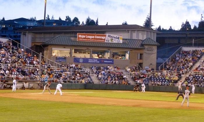 Everett AquaSox - Everett Memorial Stadium: Everett AquaSox Weekday or Sunday Baseball Game for Two at Everett Memorial Stadium (Up to 55% Off)
