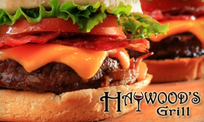 Haywood's Grill - Eastview: $10 for $20 Worth of Home-Cooked Fare and Drinks at Haywood's Grill