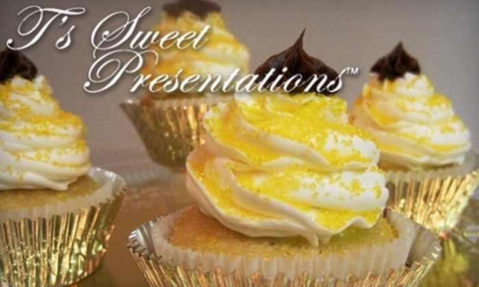 T's Sweet Presentations - Elsmere: $12 for One Dozen Classic Gourmet Cupcakes from T's Sweet Presentations