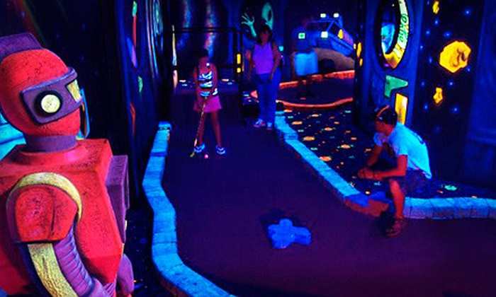 Lazer Port Fun Center - Lazer Port Fun Center: $18 for a Putt and Play Package with Mini Golf and Arcade Tokens for Up to Five People at Lazer Port Fun Center ($55 Value)